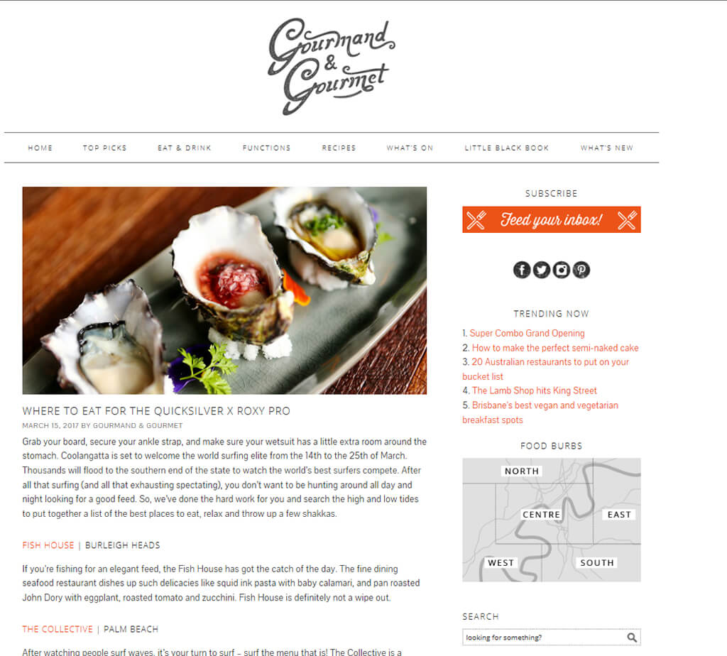 Gourmand and Gourmet